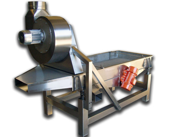 Dry-Nut-Vibratory-Cleaning Screen Air Suction cleaner